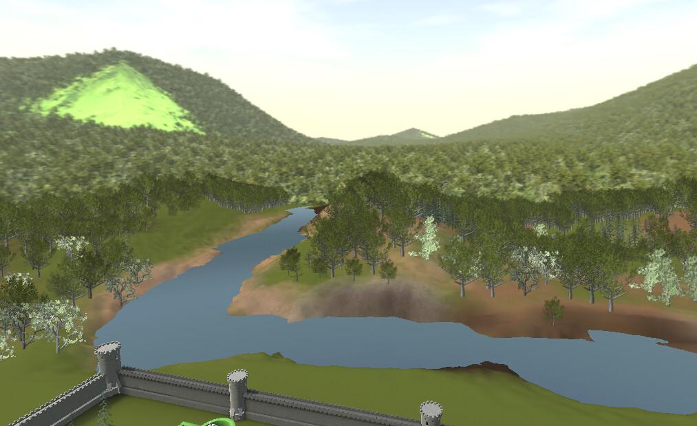 Skybox created between World Machine and Blender