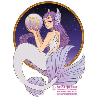 Jessica madorran patreon may 2021 zodiac mermaid virgo artstation