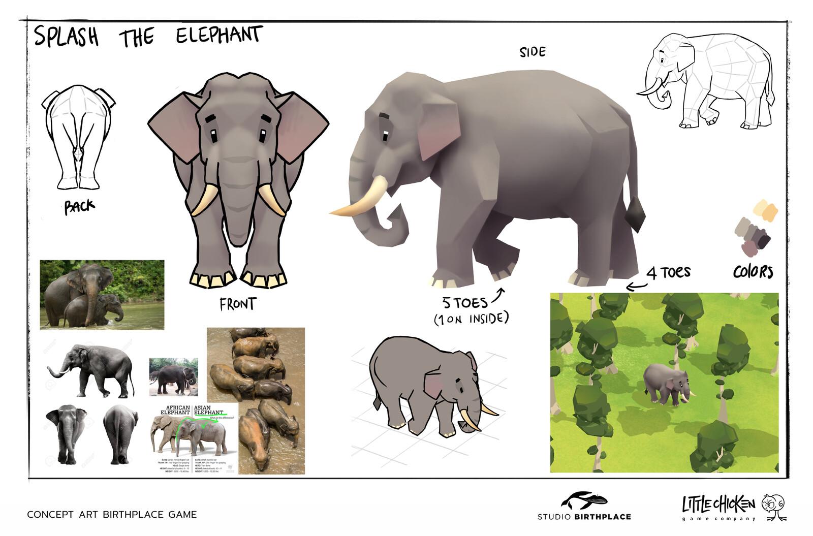 'Splash' Character concept sheet