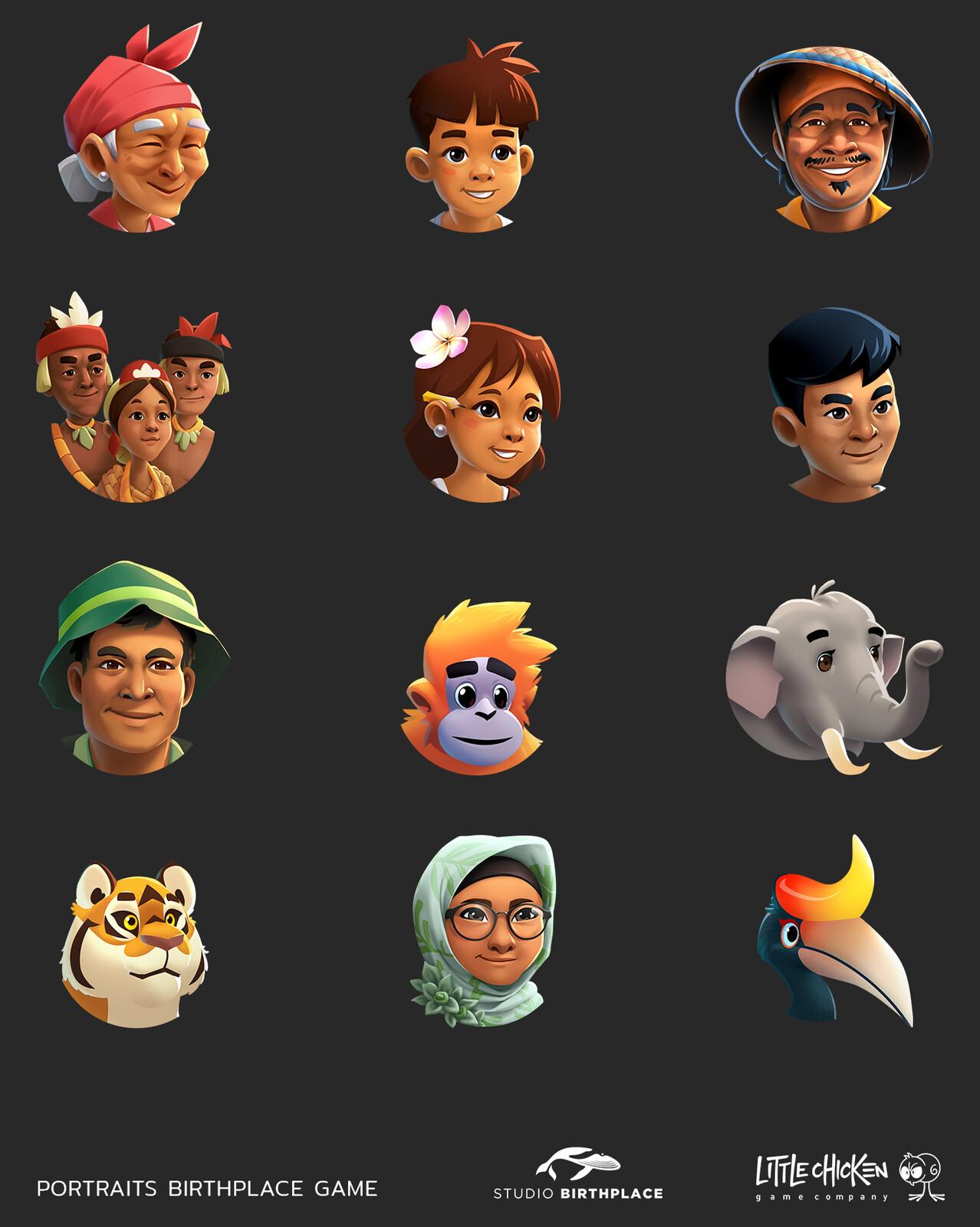 Character portraits
