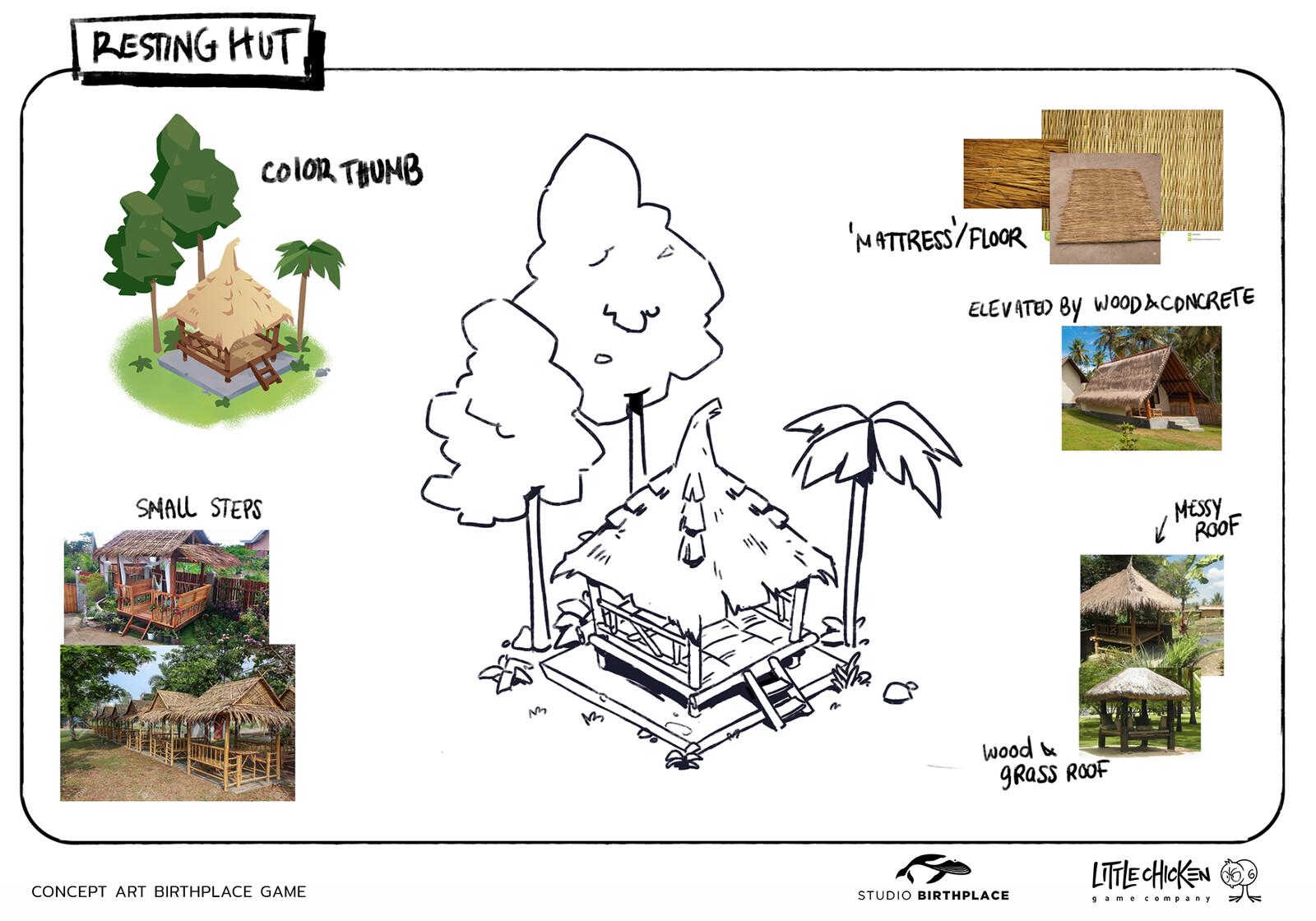 Resting Hut concept sheet