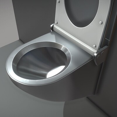Dennis haupt 3dhaupt stainless steel toilet high poly modelled by 3dhaupt 5
