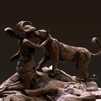 Surajit sen friends digital sculpture surajitsen may202a l