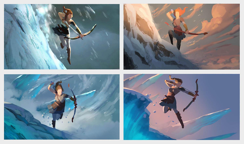 Scene Concepts - these were fun, like little cinematic stills.