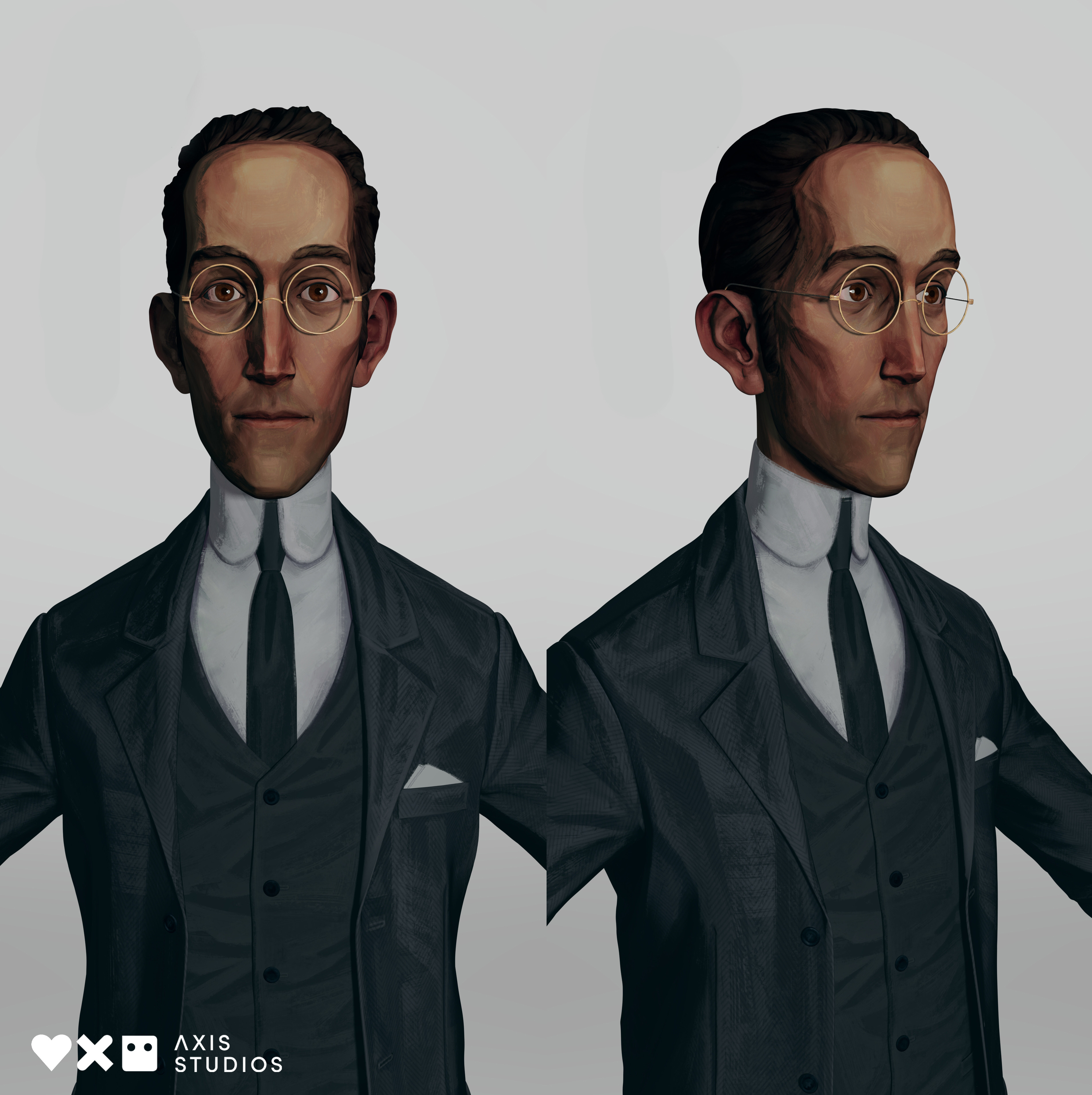 Texture and shader tests. I created all of the textures for Laird and worked with Georg Sebastian Dressler and Jonas Bergholm on the shader.