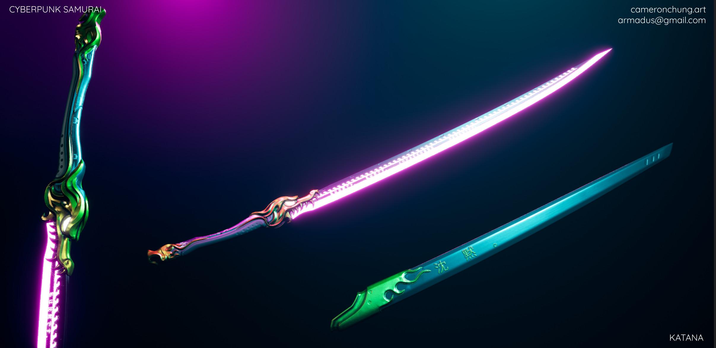Cyberpunk Samurai - Katana Unreal Engine 4