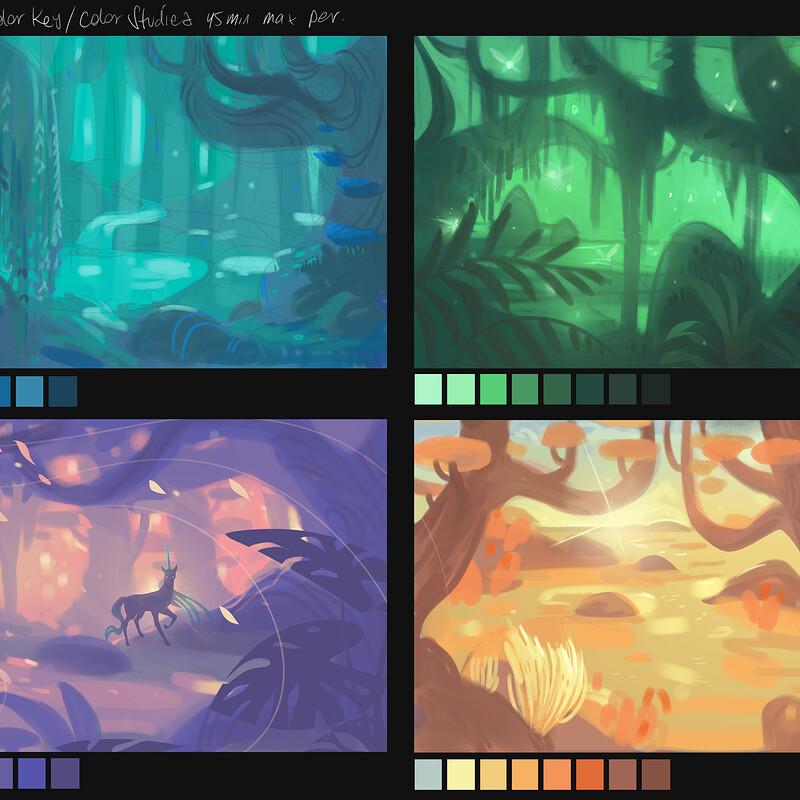 Satyr's glade color study