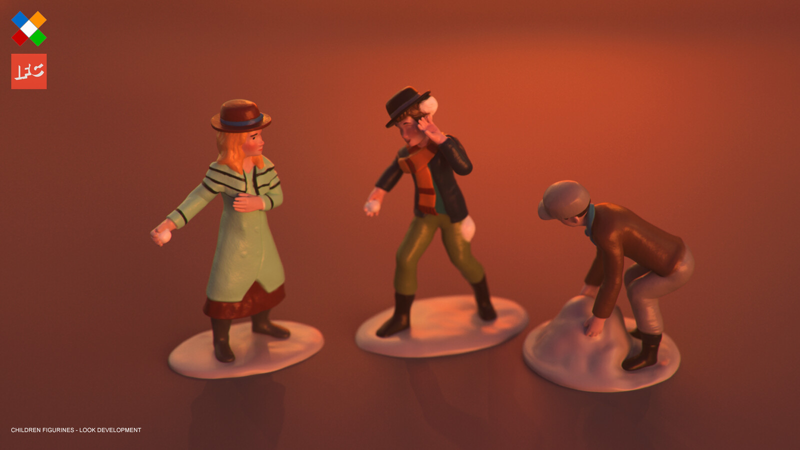 Look Development done for the Children Figurines