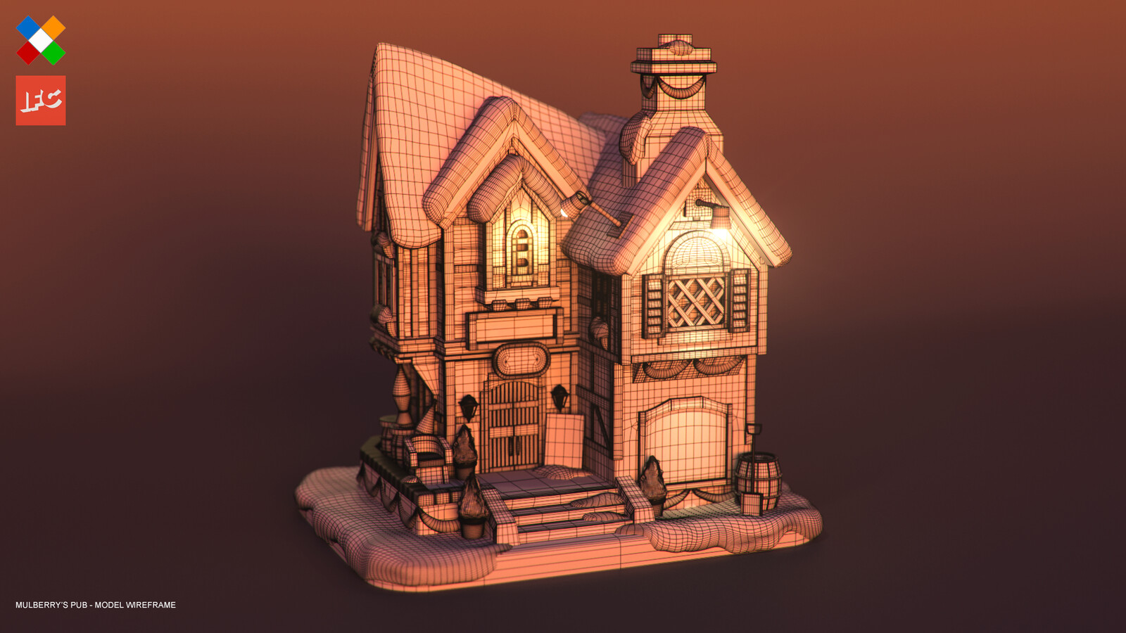 Mulberry's Pub Wireframe Render
