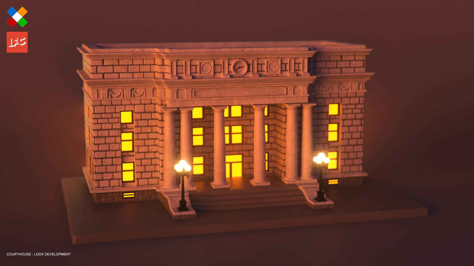 Look Development done for the Courthouse model