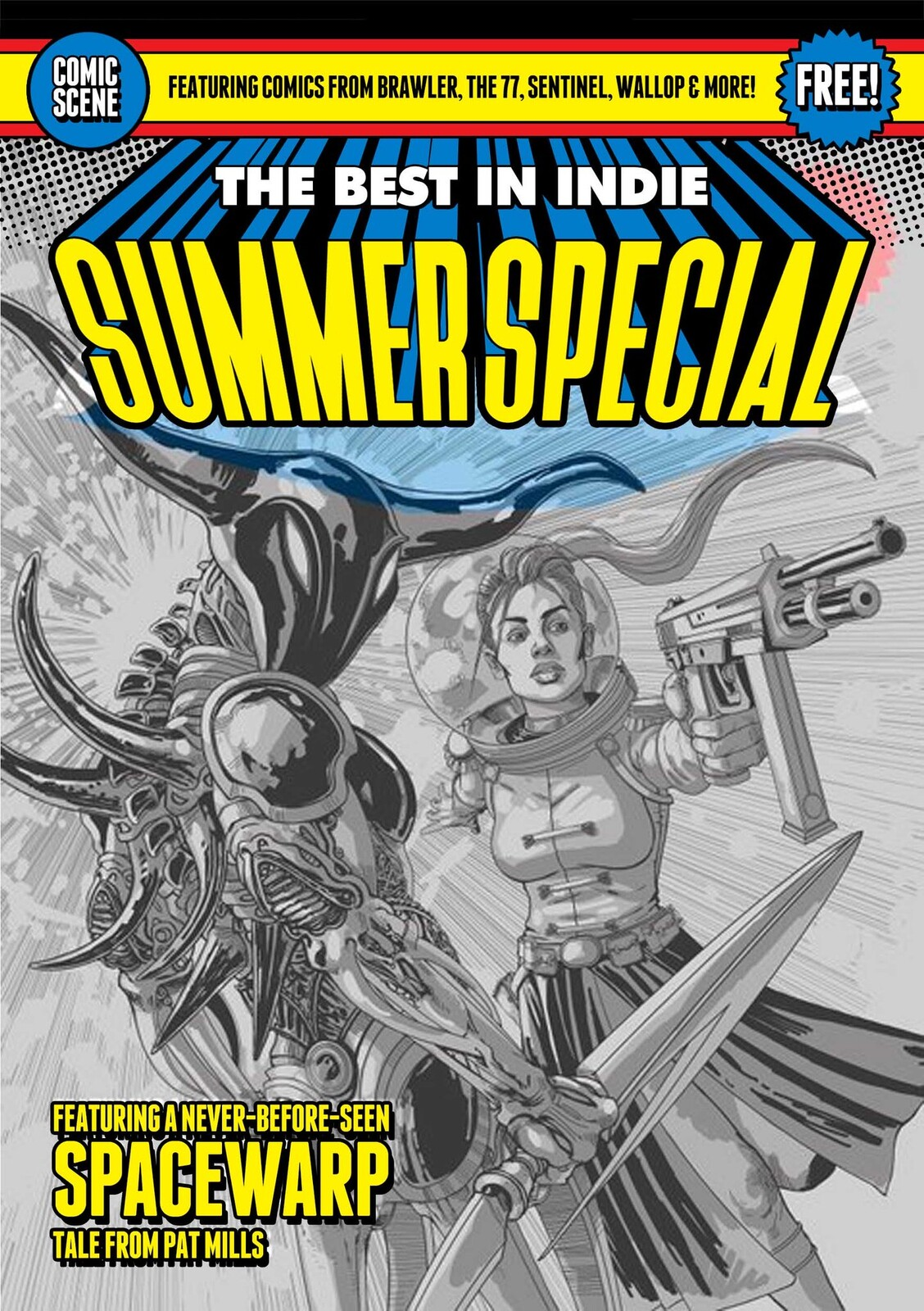 Comic Scene Summer Special Cover Sketch