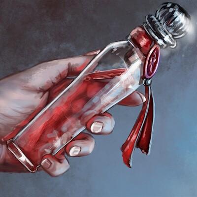 Magical kaleidoscope hand and bottlejpg