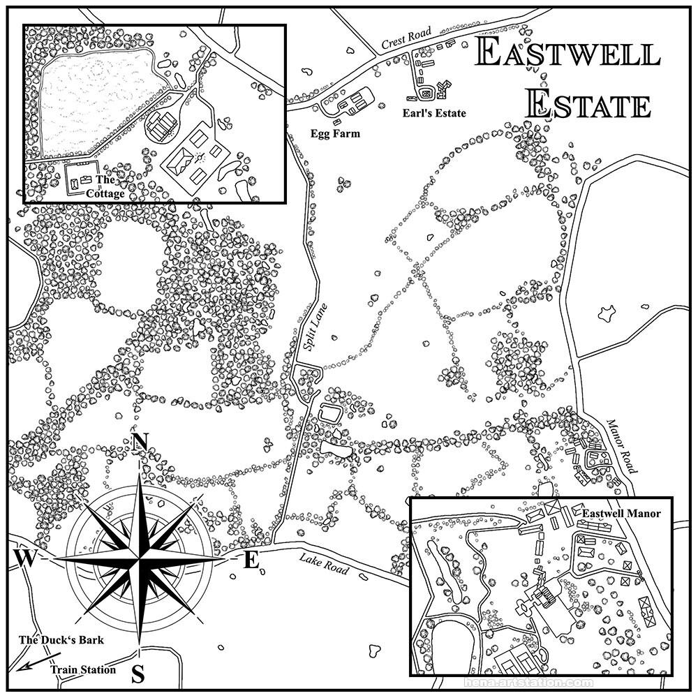 Map Art: Eastwell