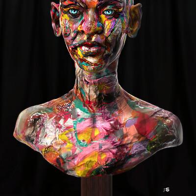 Surajit sen facewash digital sculpture surajitsen may2021al