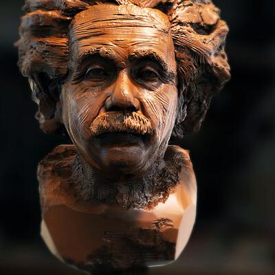 Surajit sen albert einstein v1 digital sculpture surajitsen may2021al
