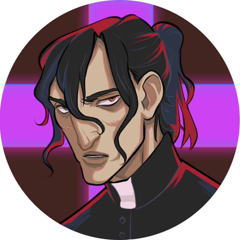 Icon commission of original priest character
