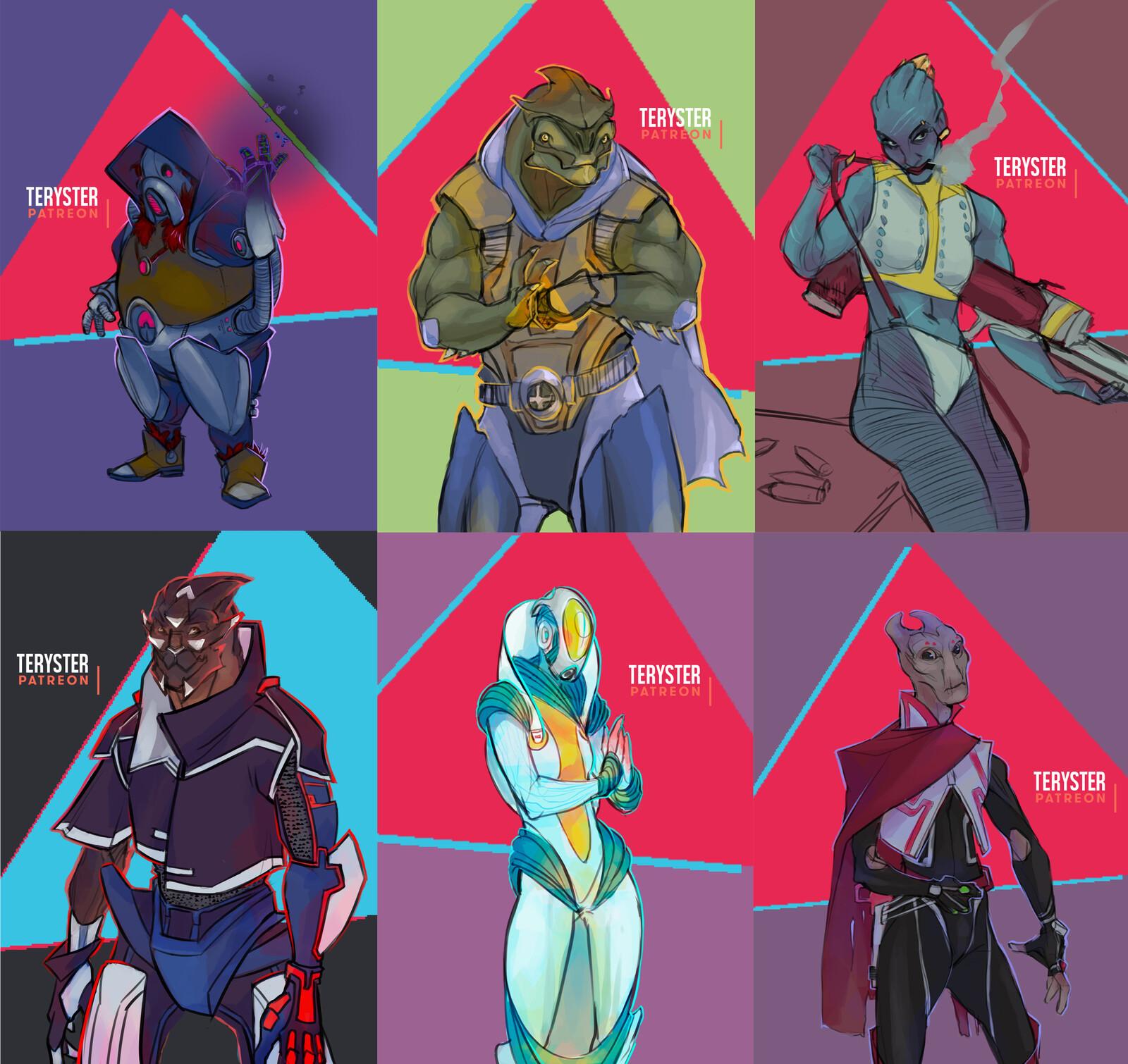 N7 day livestream - random character designs