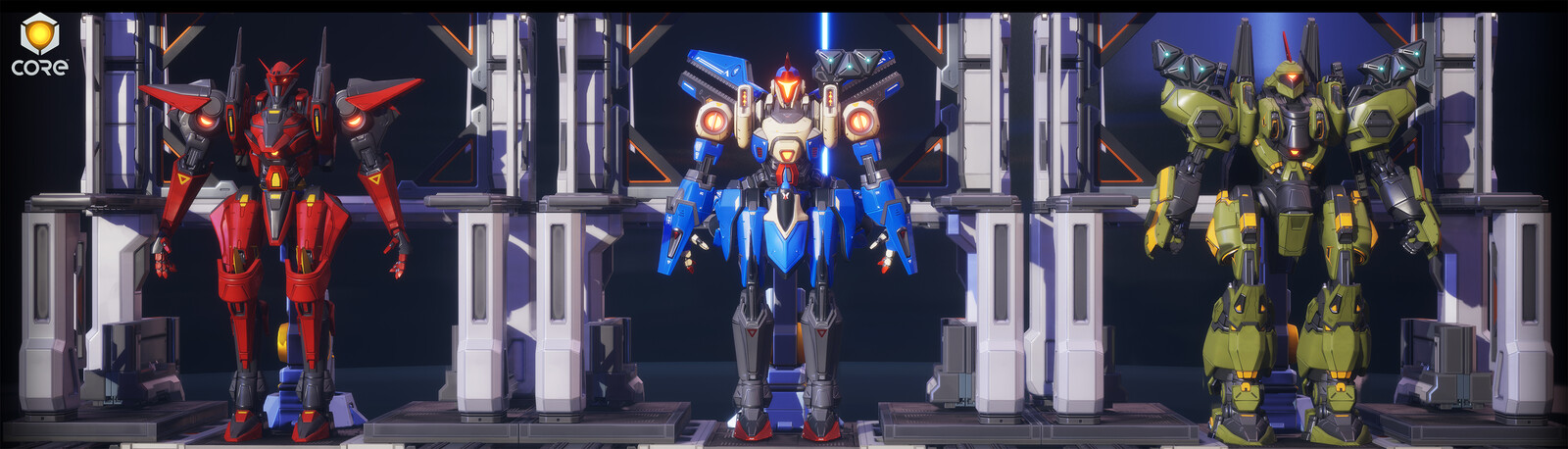 Mecha Templates created by Evan Gauge and Charles Smith
