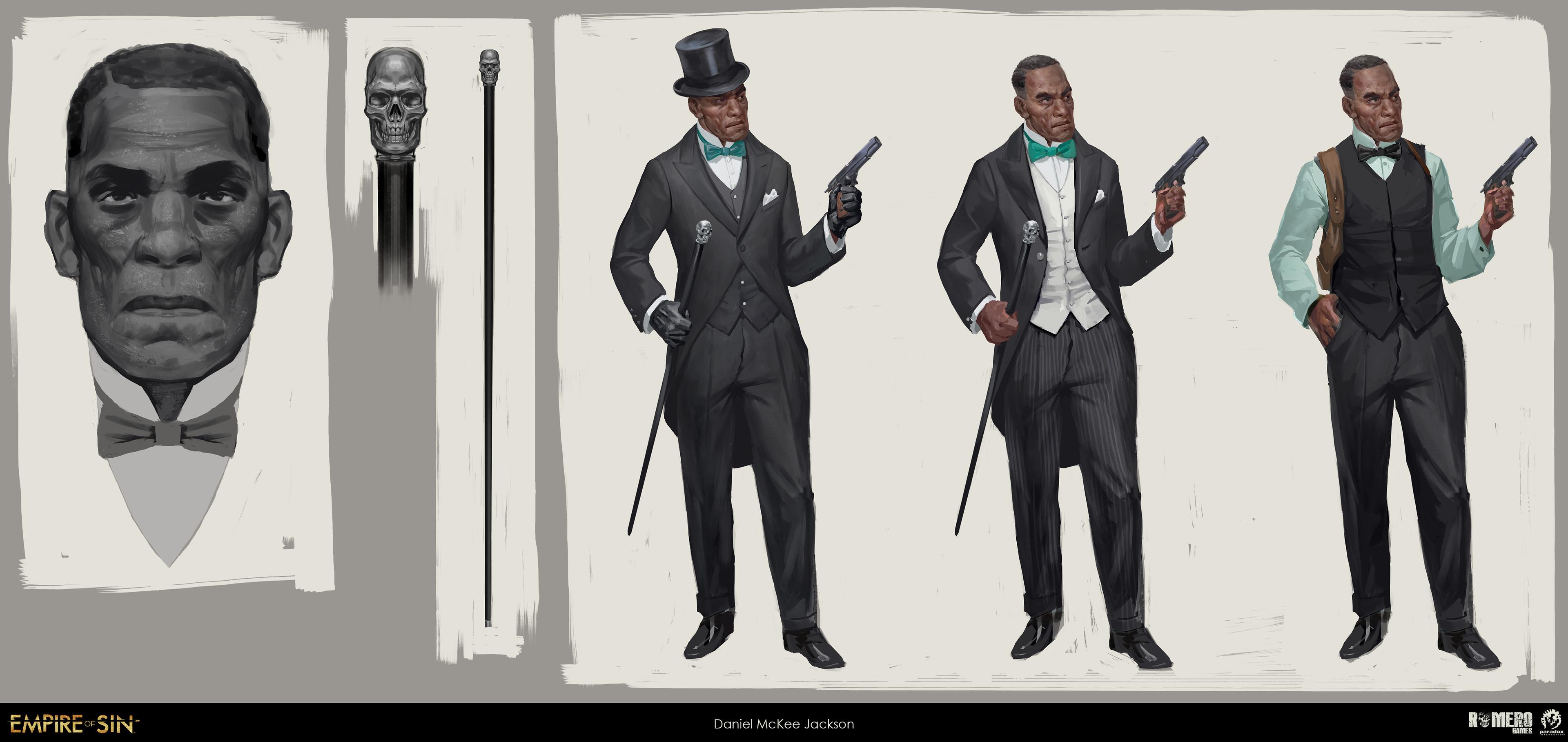 Daniel McKee Jackson concept art. American boss of the Vice Kings.