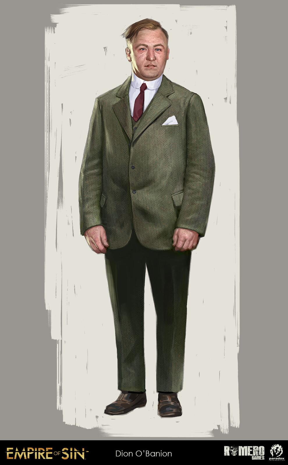 Dion O'Banion concept art. Irish-American boss of The Northside Mob.