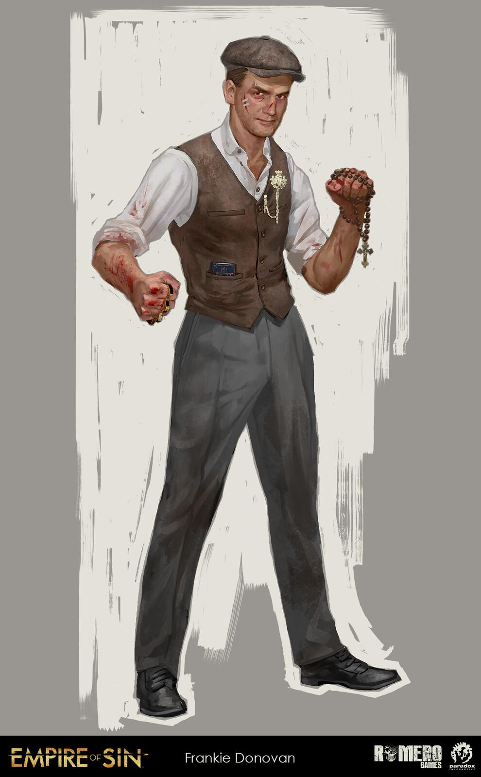 Frankie Donovan concept art. Irish boss of the Donovans gang.