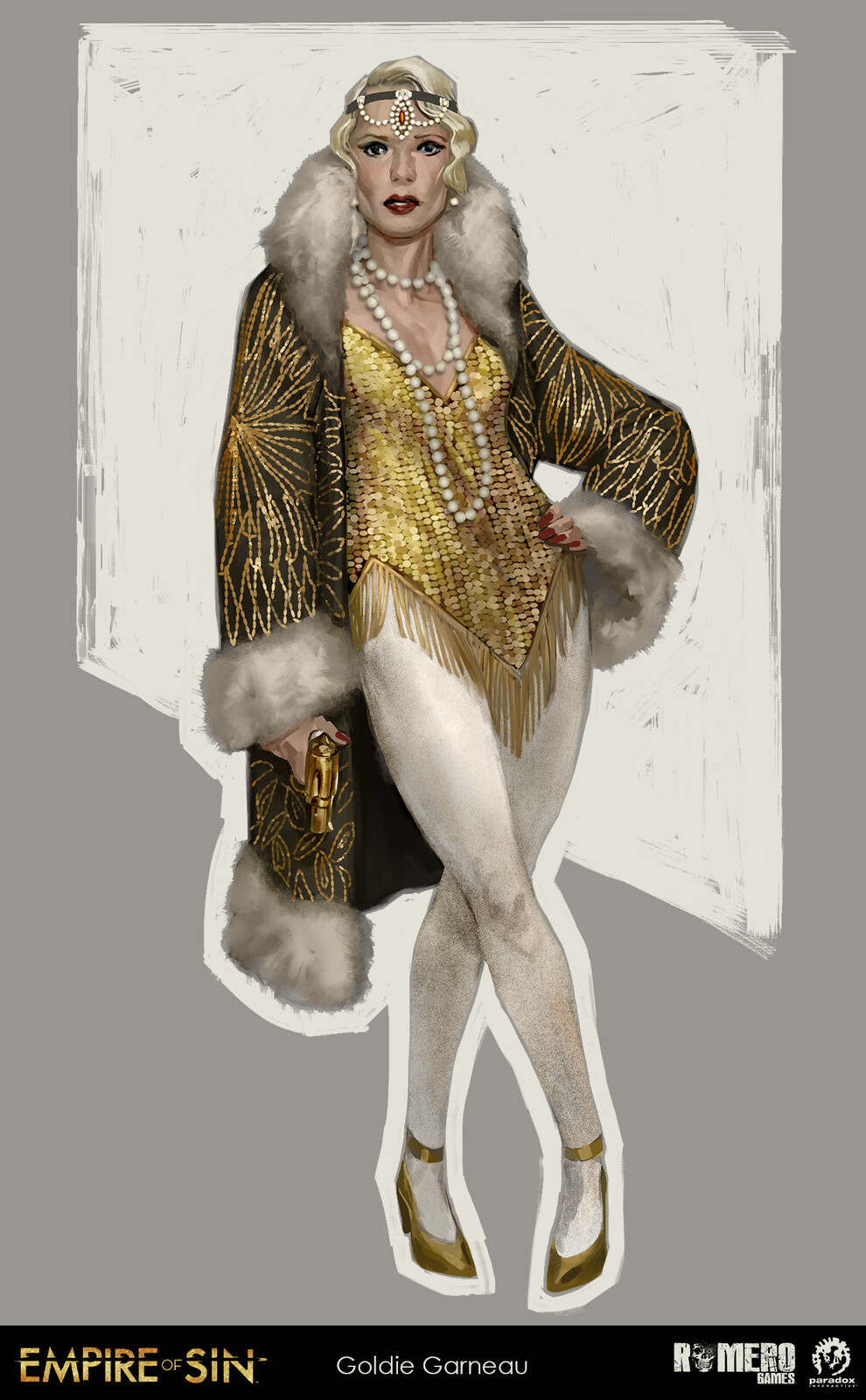 Goldie Garneau concept art. French-Canadian boss of the Fortune Tellers.