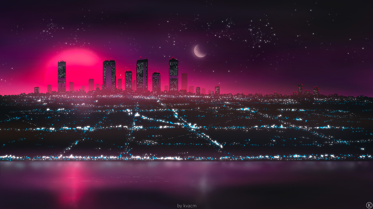 Commission Website Wallpaper for Neon Drifts