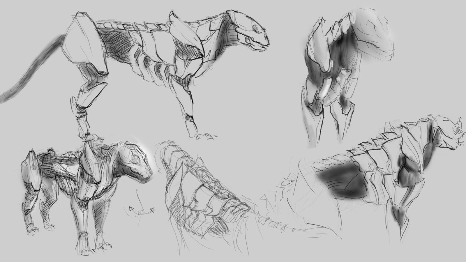 First sketches. Just laying out ideas. Mostly did these to get in the habit of sketching more.