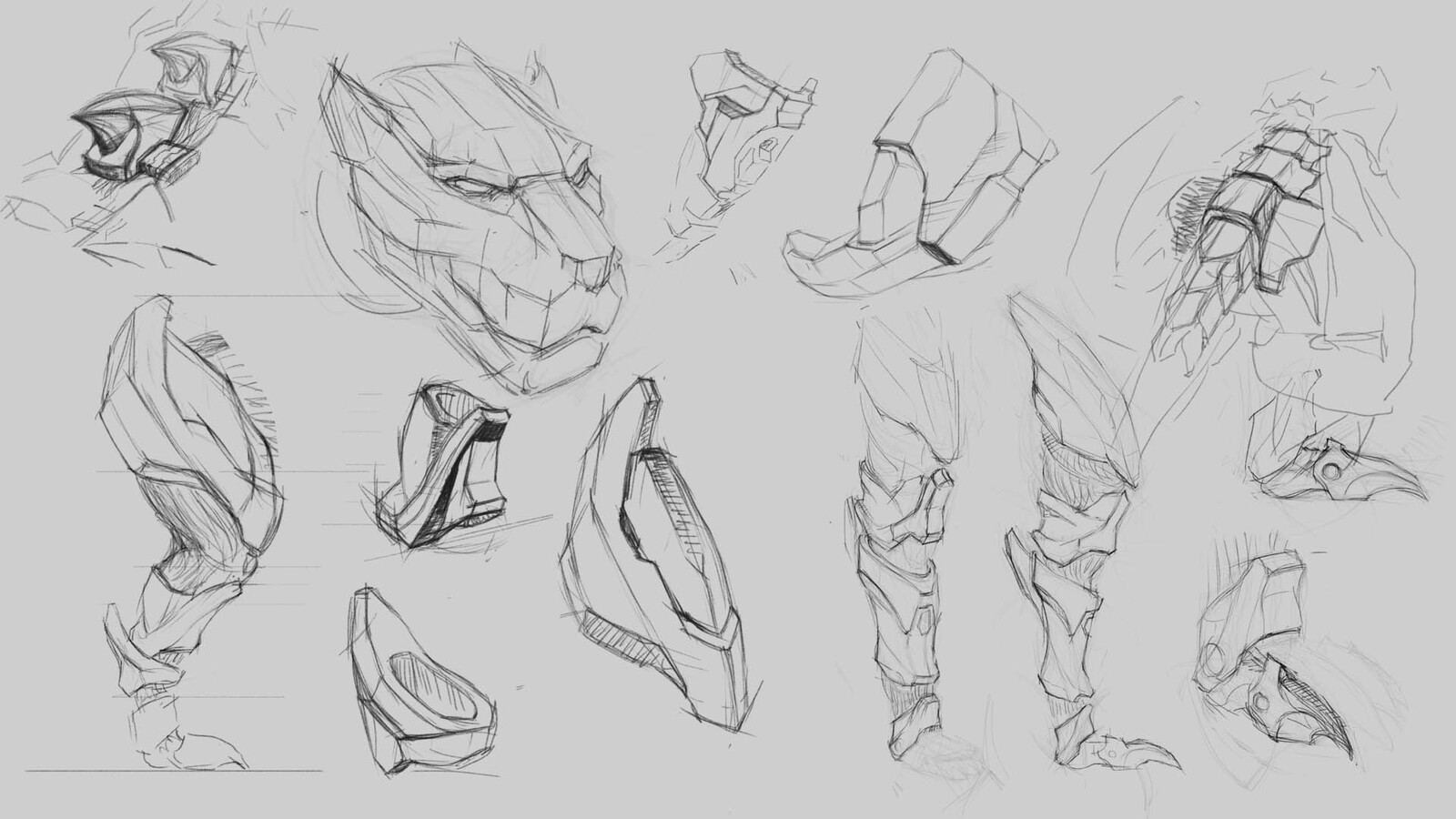 After break-up I isolated each piece and tried to refine the shapes. Dunno if this actually helped to be honest