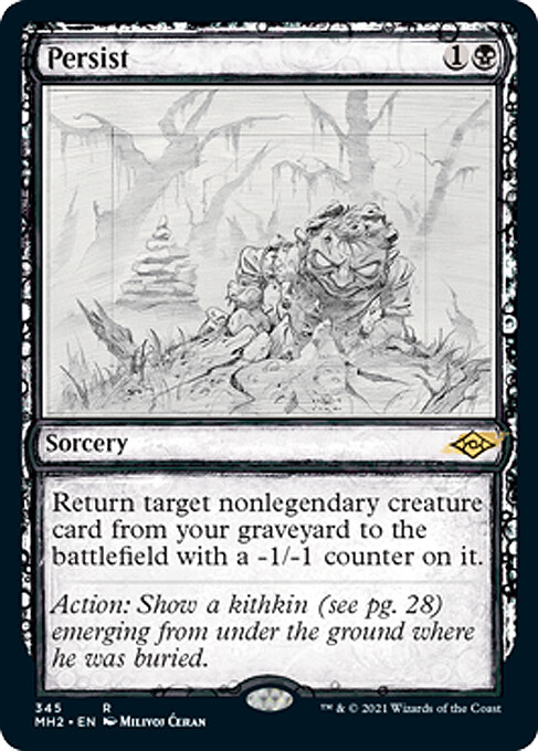 """- """"Persist"""" released sketch card (still don't have english version, so I'll post this one now) - AD Cynthia Sheppard - Magic the Gathering, """"Modern Horizons 2"""", release June 2021"""