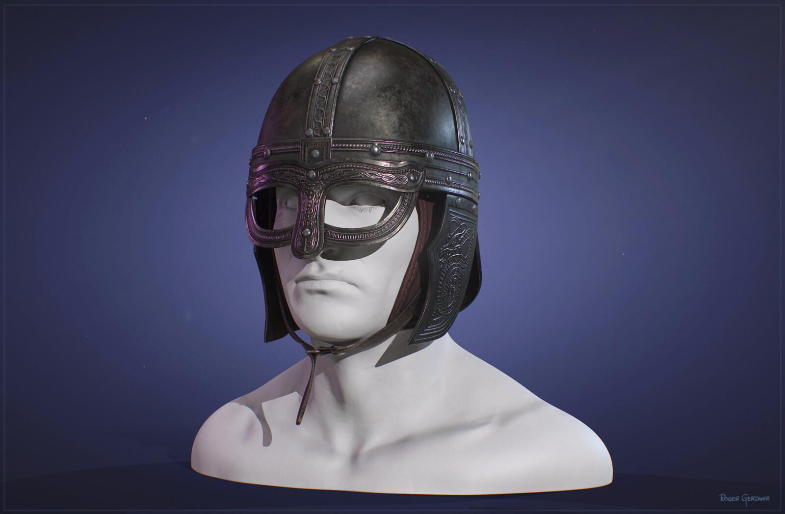 Decorated Viking Helmet