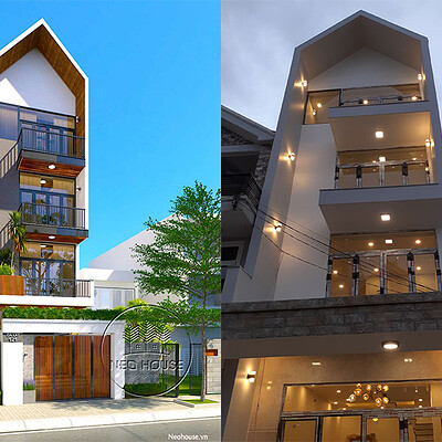 Neohouse architecture thi cong nha pho tron goi 5x20m anh bia