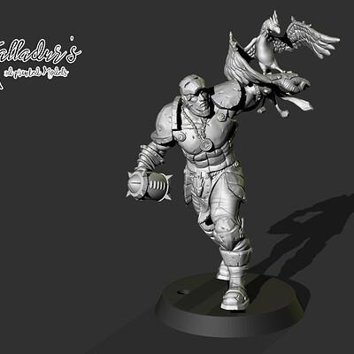 Galladur s 3d printed models iron grouff 09 45mm hors bird 01