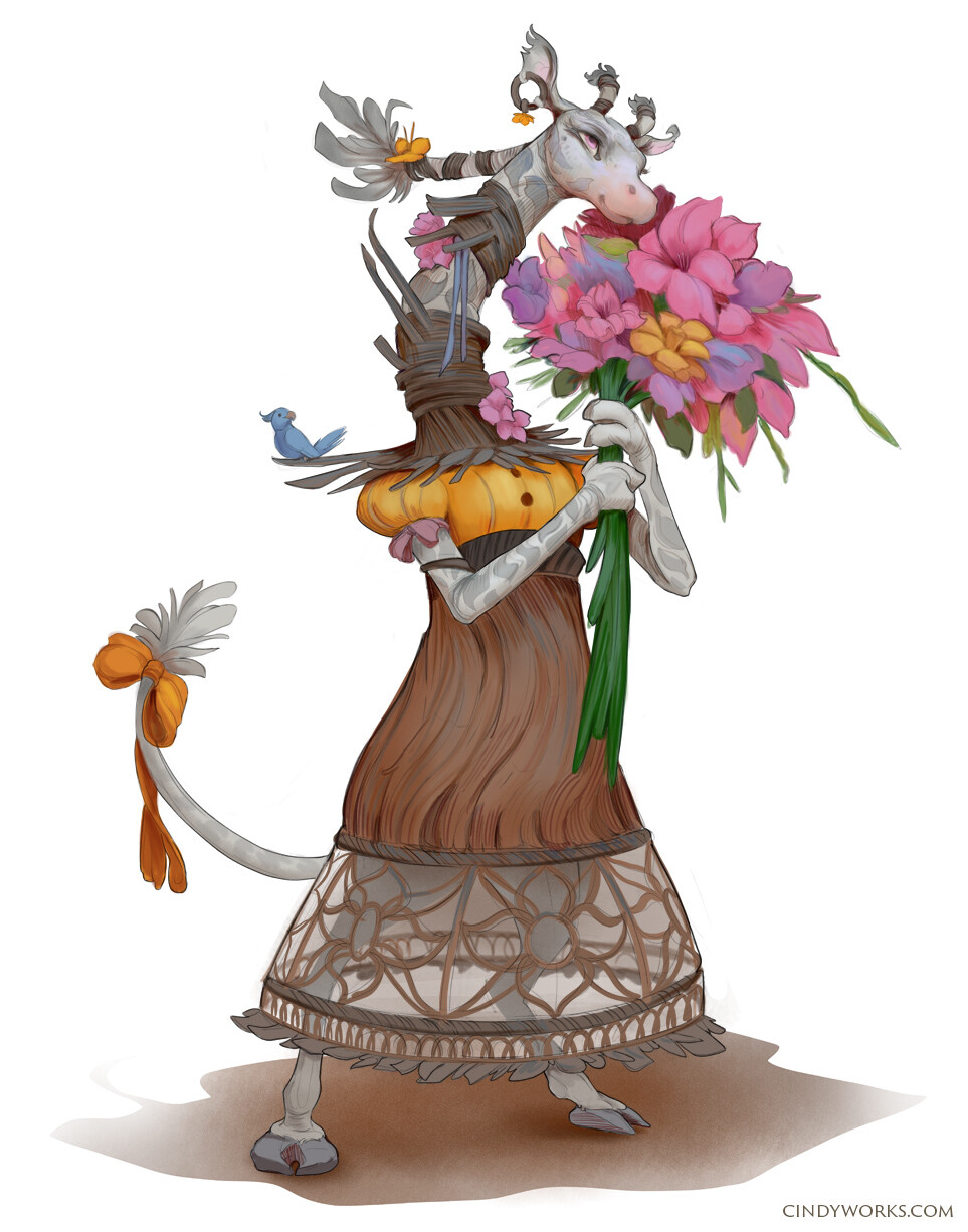 Bianca, the florist. With her flowers, she wants to bring more happiness and smiles to others