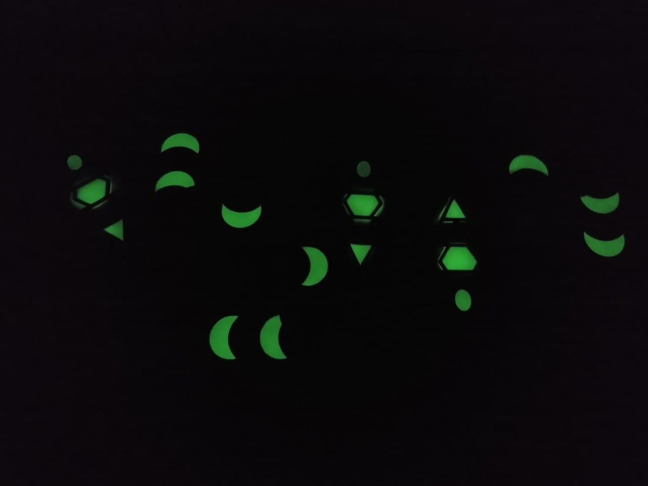 The glow pigment works pretty great!