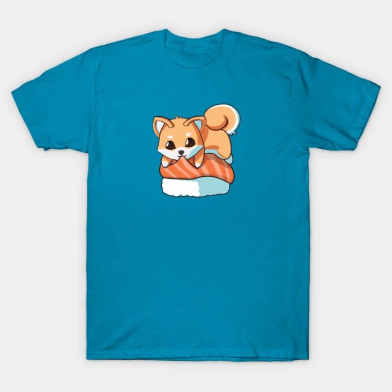 You can find the prints on teepublic. https://www.teepublic.com/t-shirt/22379403-shiba-salmon-sushi-t-shirt?store_id=125261
