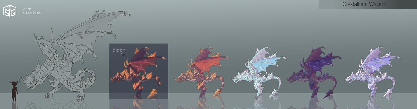 Soul Spires: Initium - Crystallum Wyvern