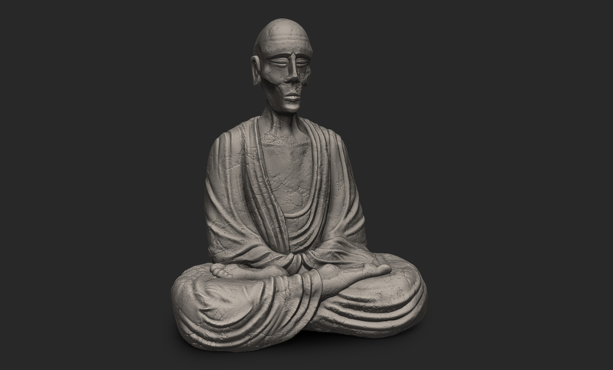 zBrush sculpt for the statue