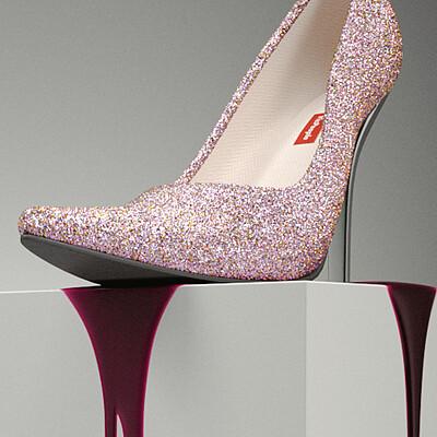 Christopher widdowson shoe 3 8bit pink