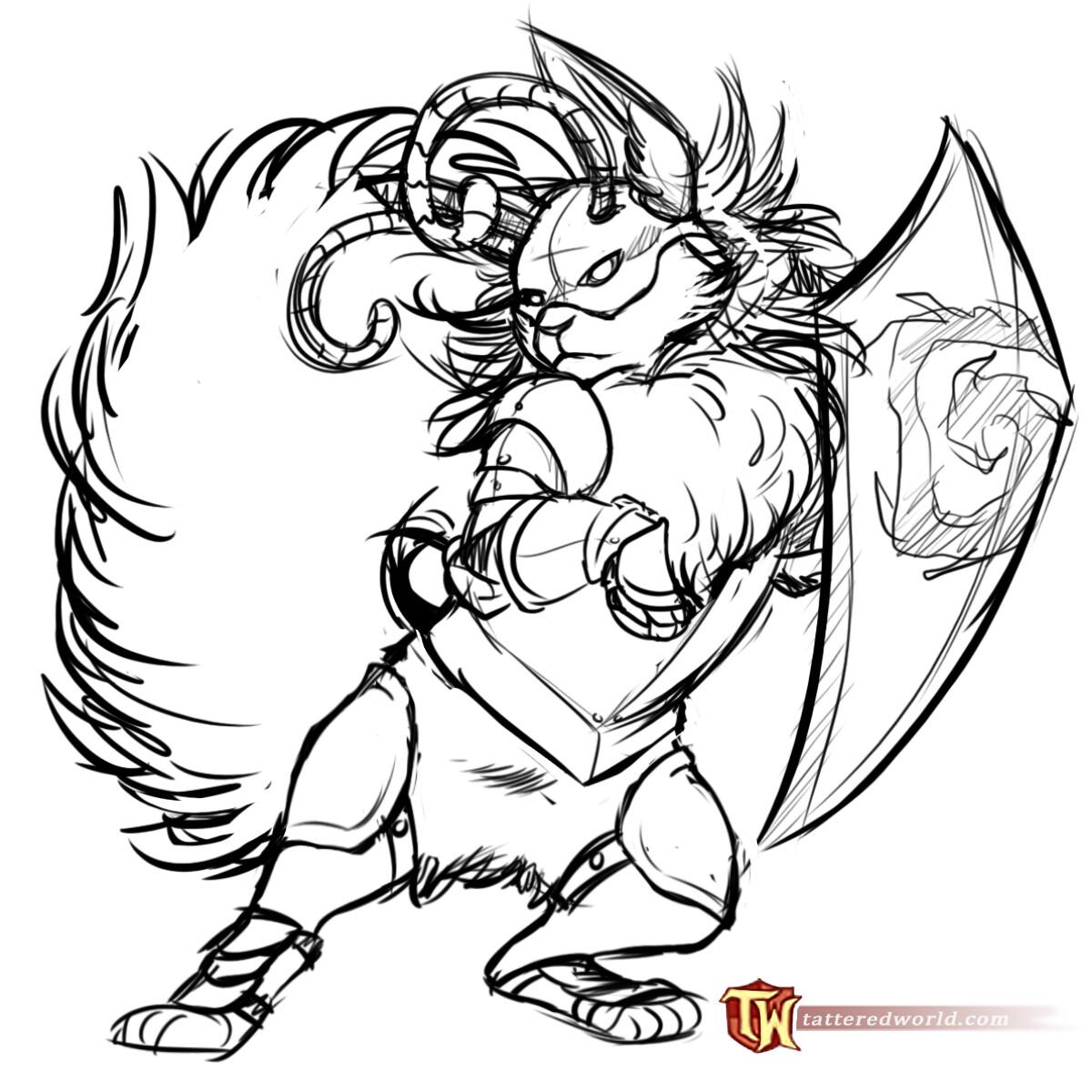 Unused Concept Sketch for Bumblebunee Hero Stage