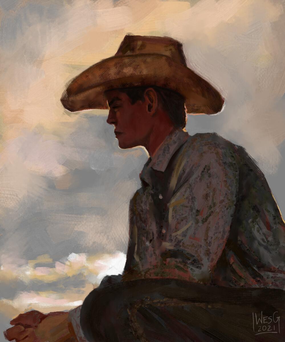 Cowboy Sketch in Krita