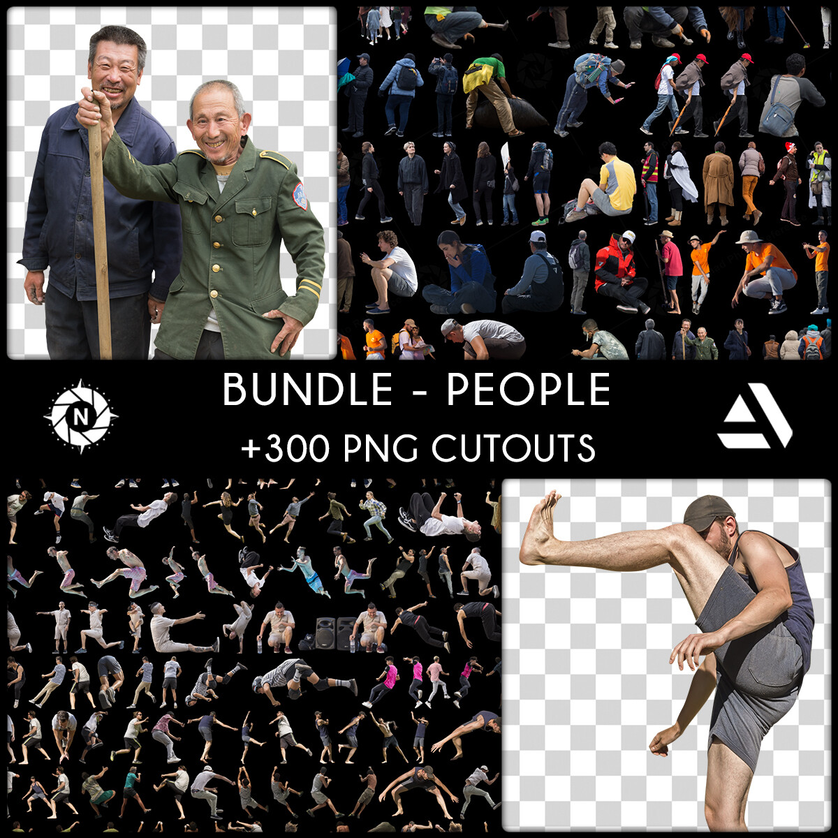 Bundle: PNG Cutouts - People - Company License  https://www.artstation.com/a/5465292