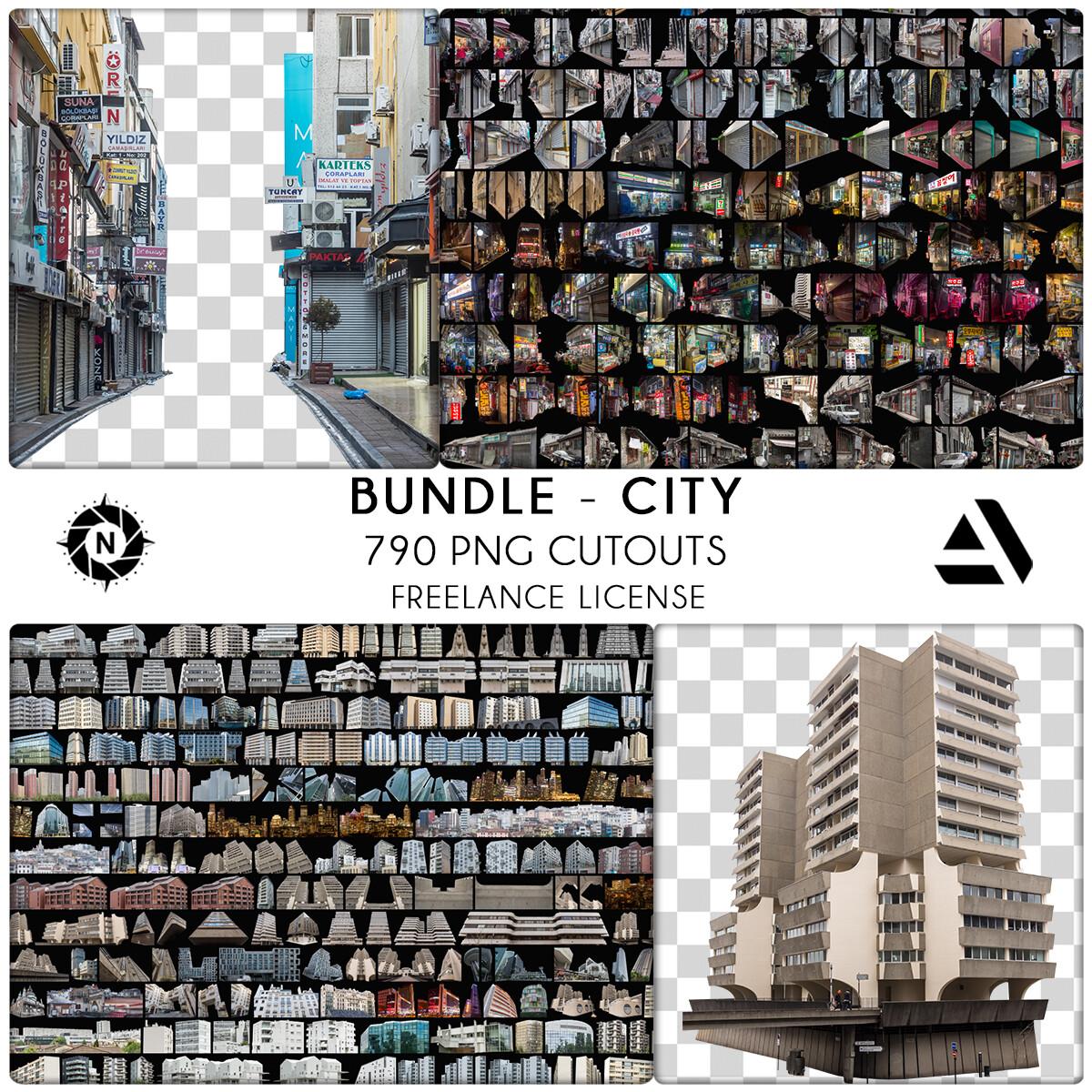 Bundle PNG Photo Packs: City - Freelance License  https://www.artstation.com/a/6069217
