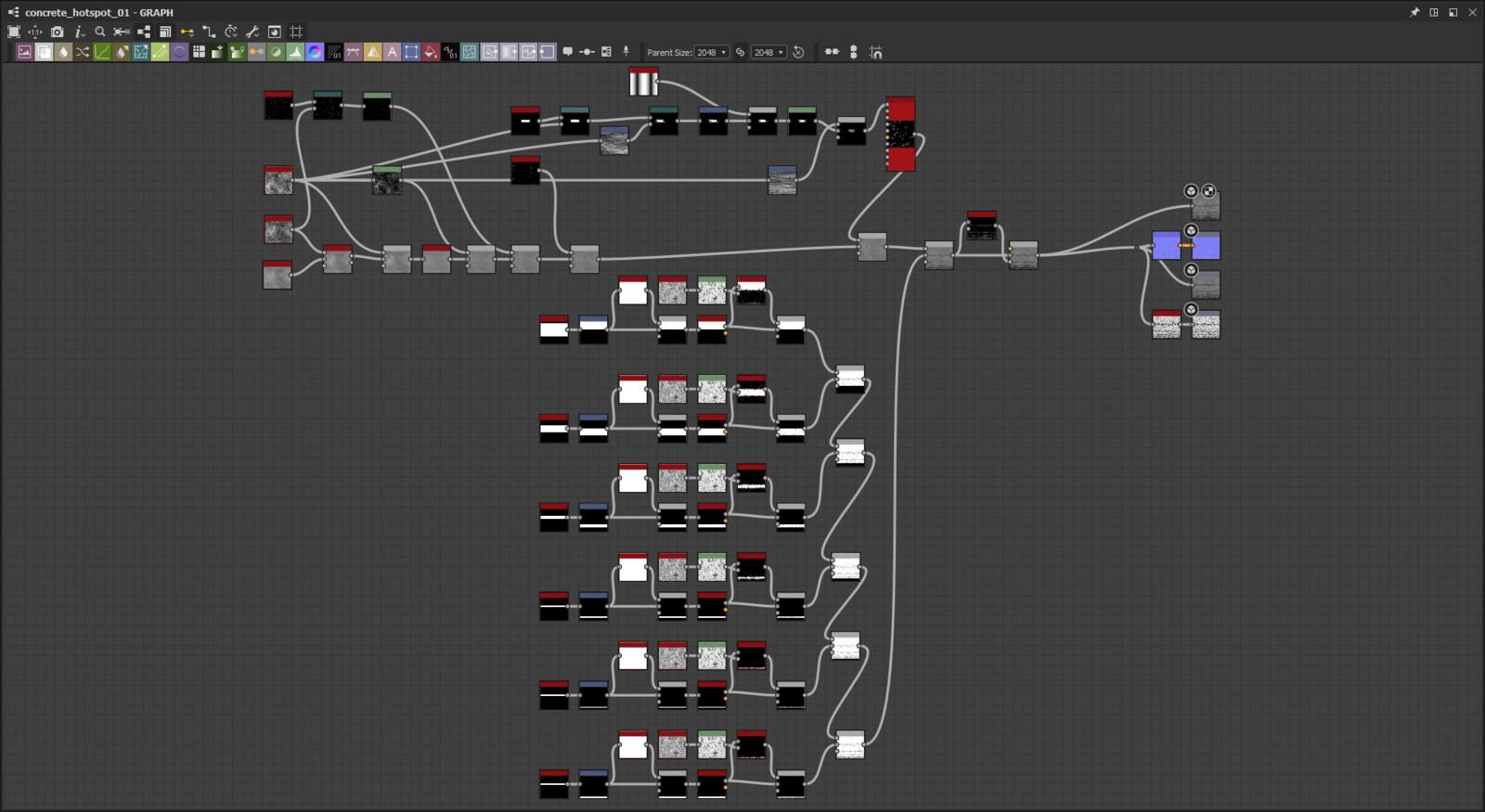 Concrete_Hotspot_01 Substance Design Graph