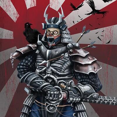 Israel maranguello samurai guerrero zombi