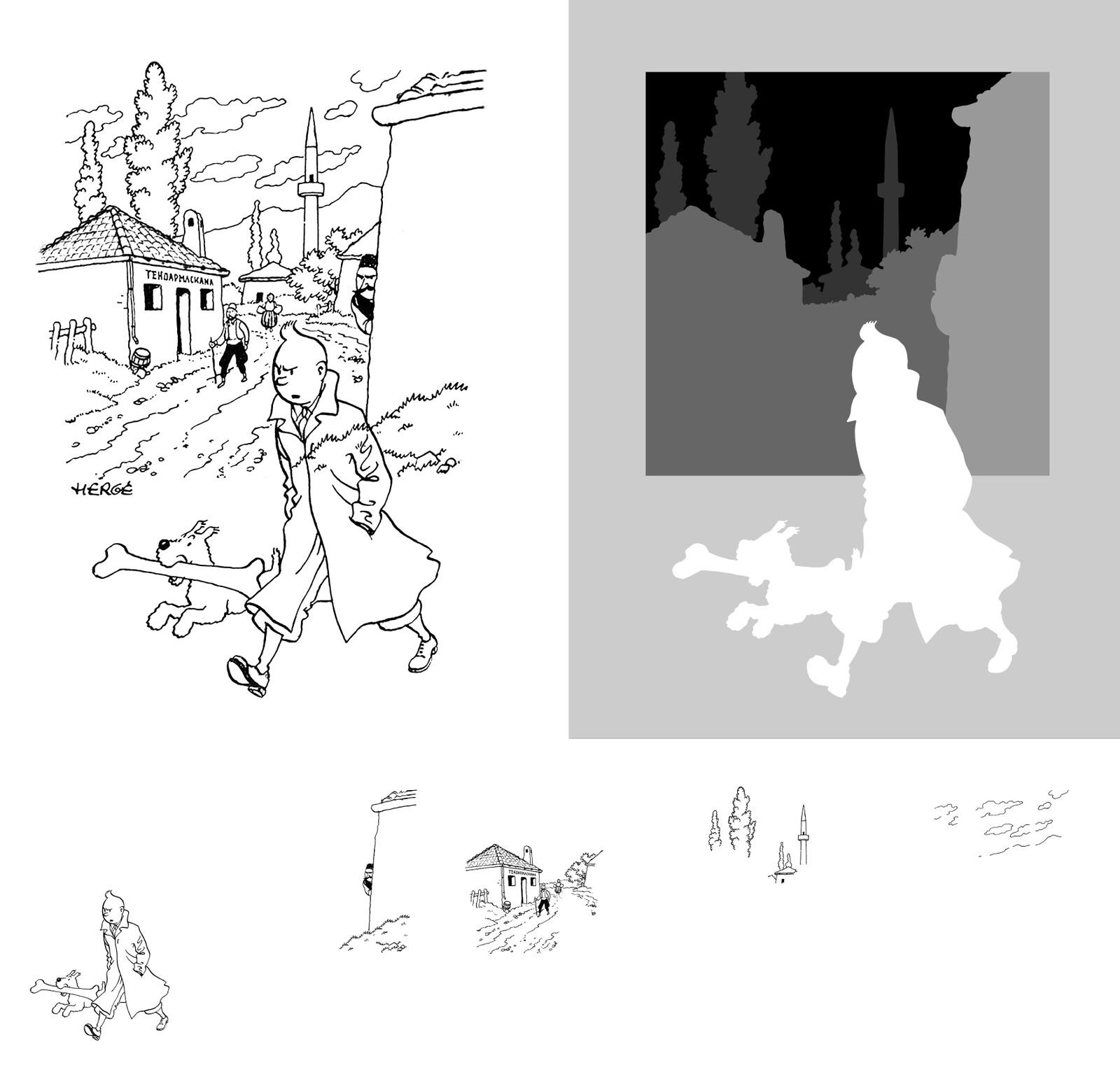Tintin - Layered Frame - Height Map