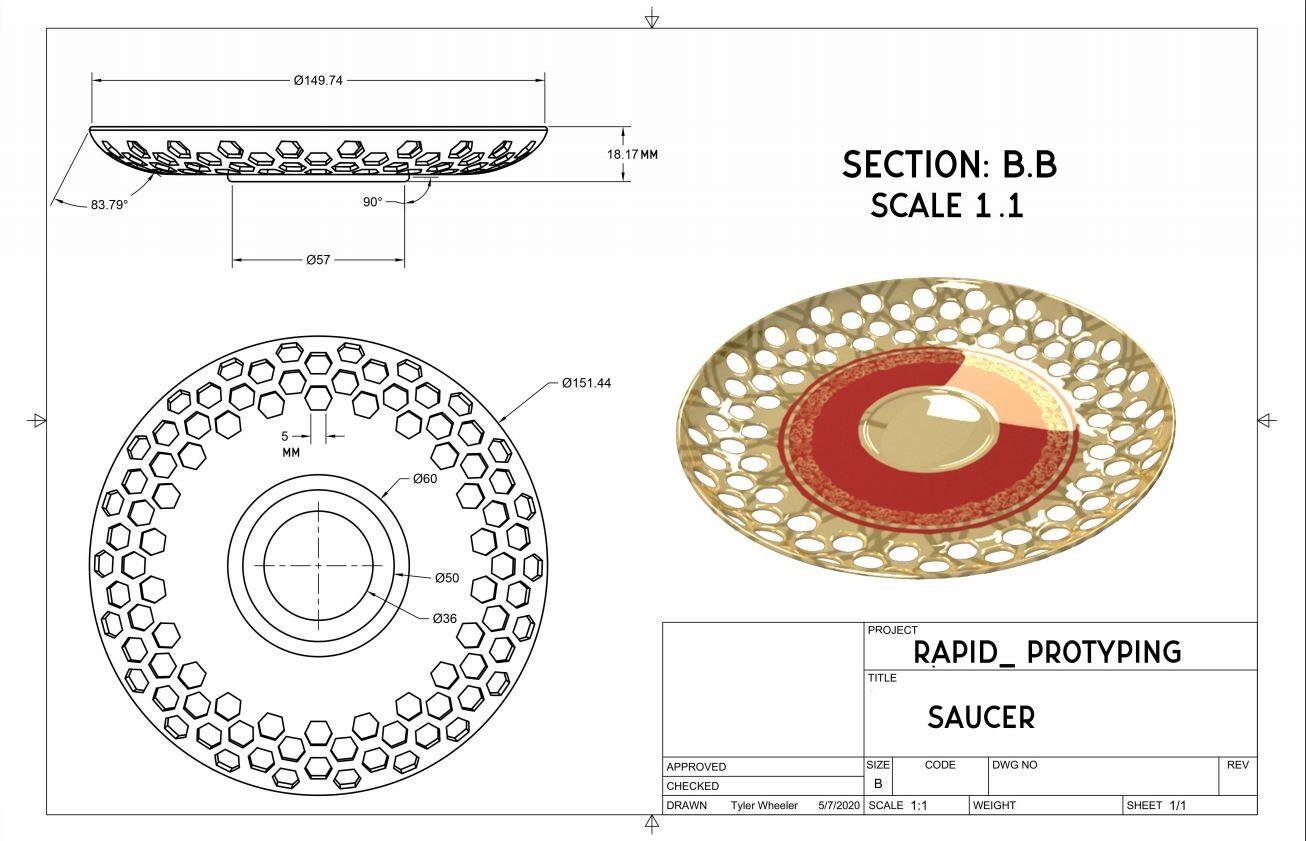 Rapid Prototype Blueprint Saucer