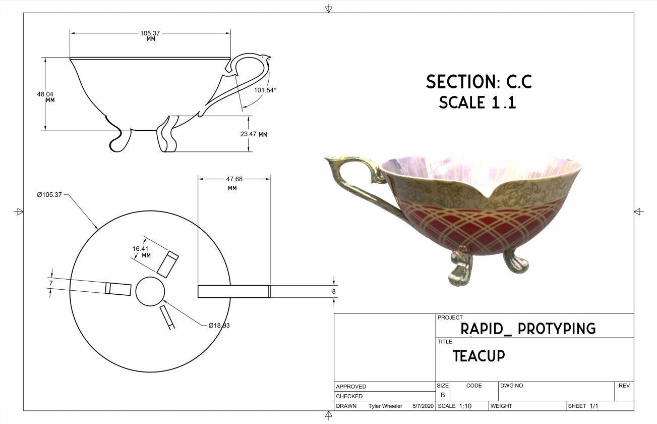 Rapid Prototype Blueprint Teacup
