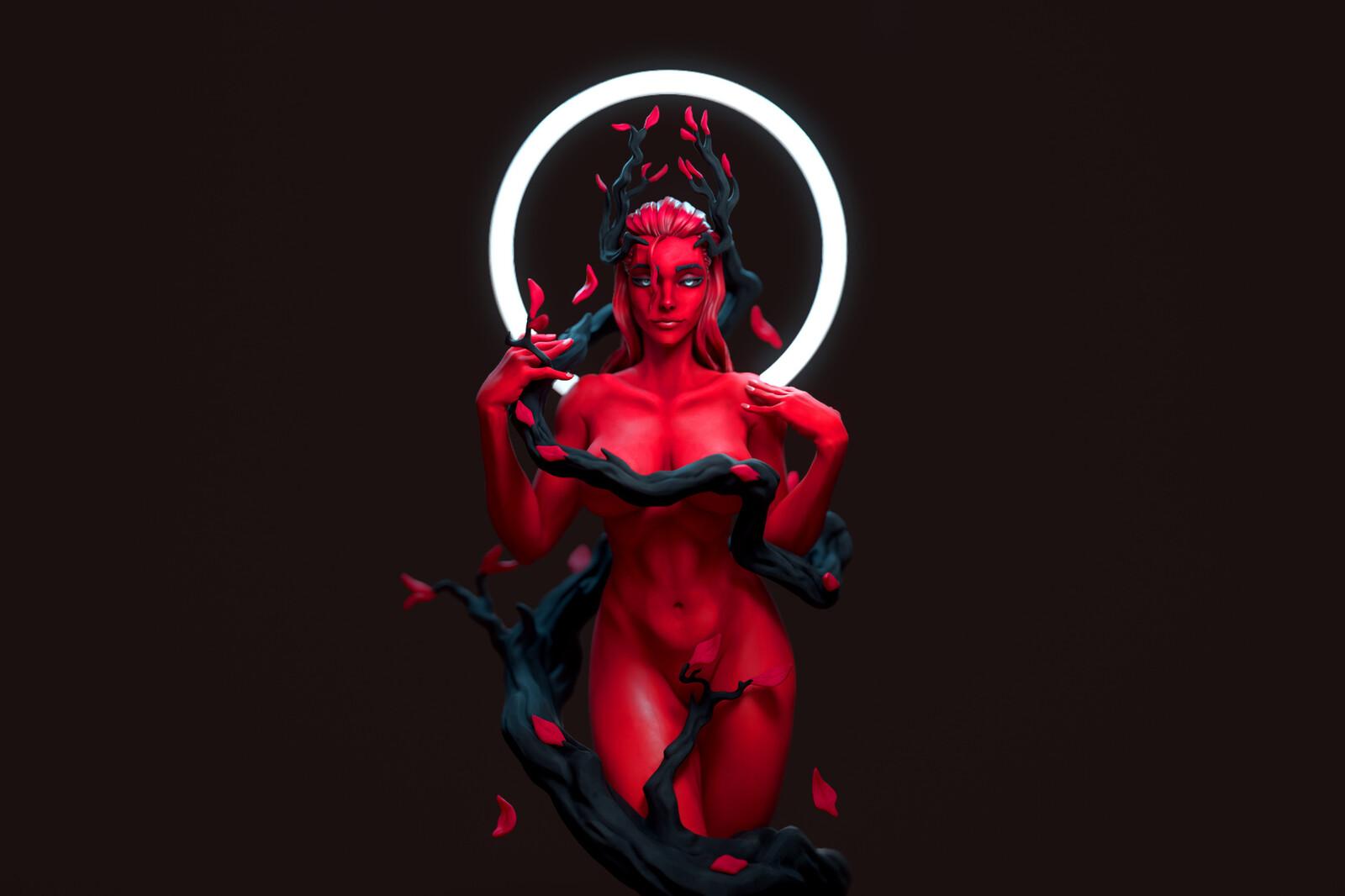 Red Series N°11 - 3D Printable Sculpt