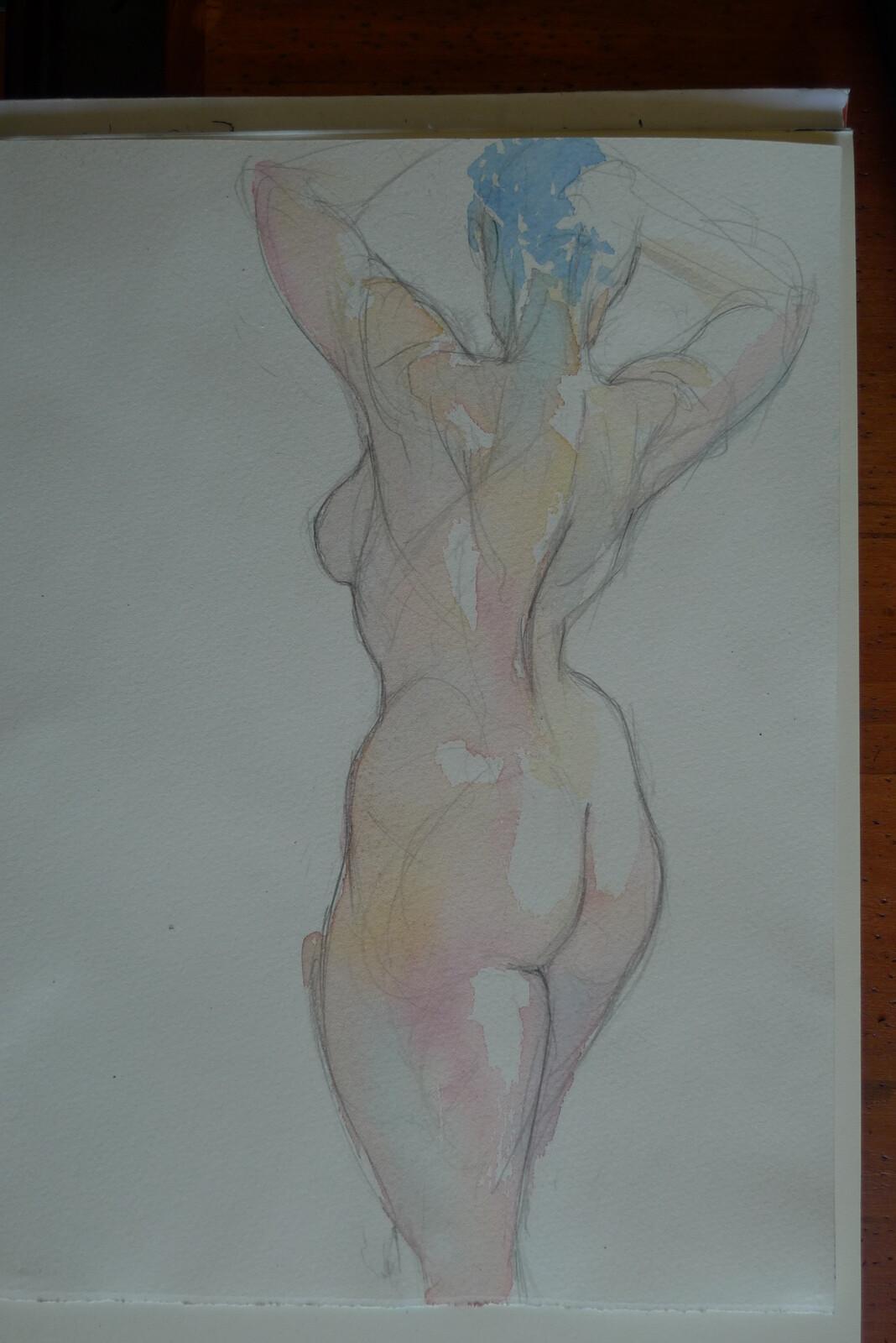 watercolours sketch